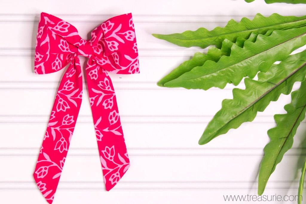diy fabric bow