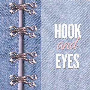 sewing hook and eye closures