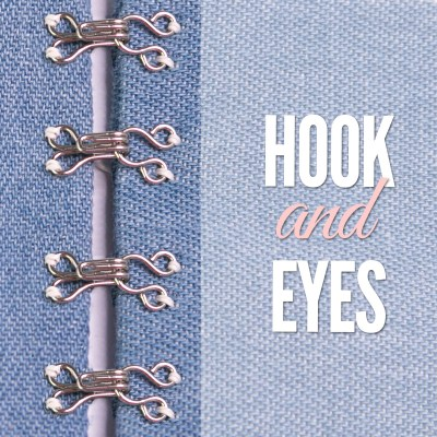 sewing hook and eye closures