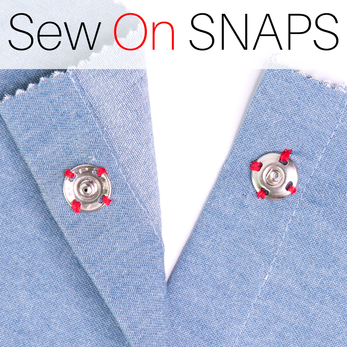 How to Sew On Snaps (Press Studs) for Beginners |TREASURIE