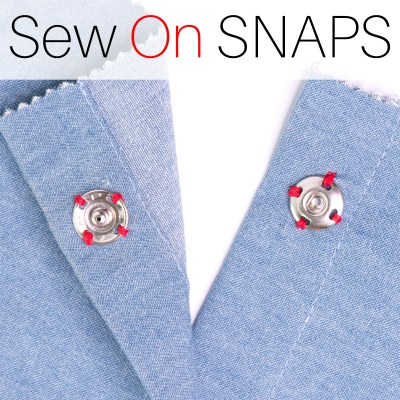 How to Sew On Snaps (Press Studs) for Beginners