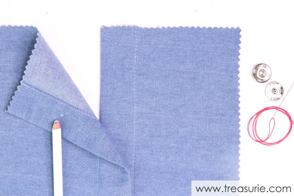 How to Sew on Snaps - Marking