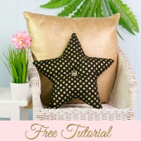 Star Pillow Pattern - Free Pattern Template |TREASURIE