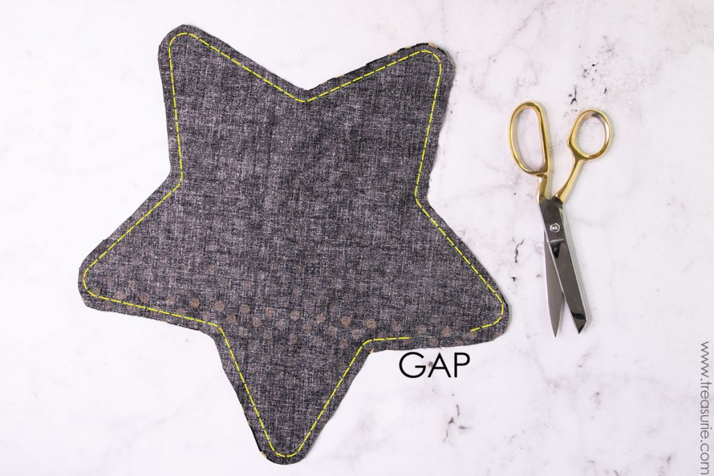 Star Pillow Pattern - Stitching