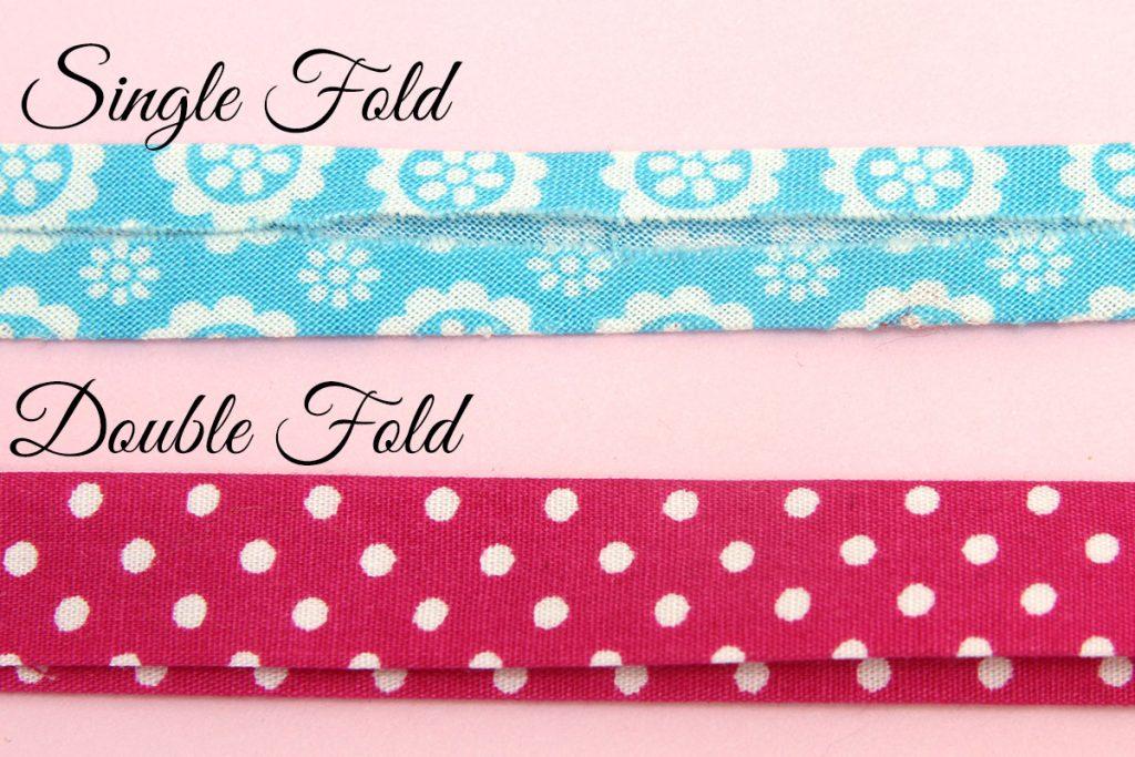 single fold vs double fold bias tape