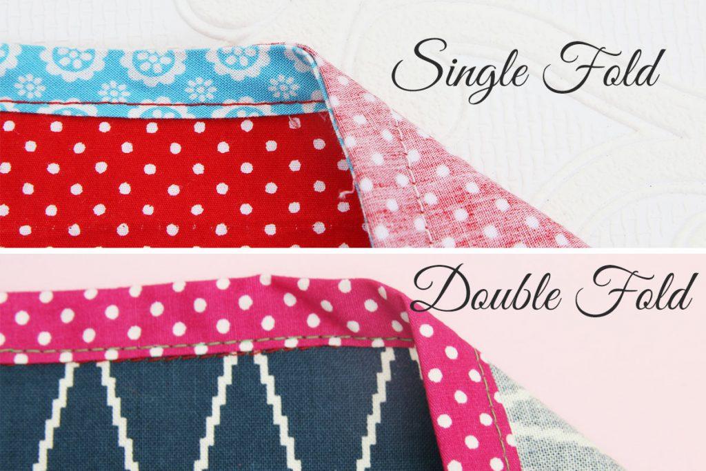 Types of Bias Tape - Single vs Double Fold