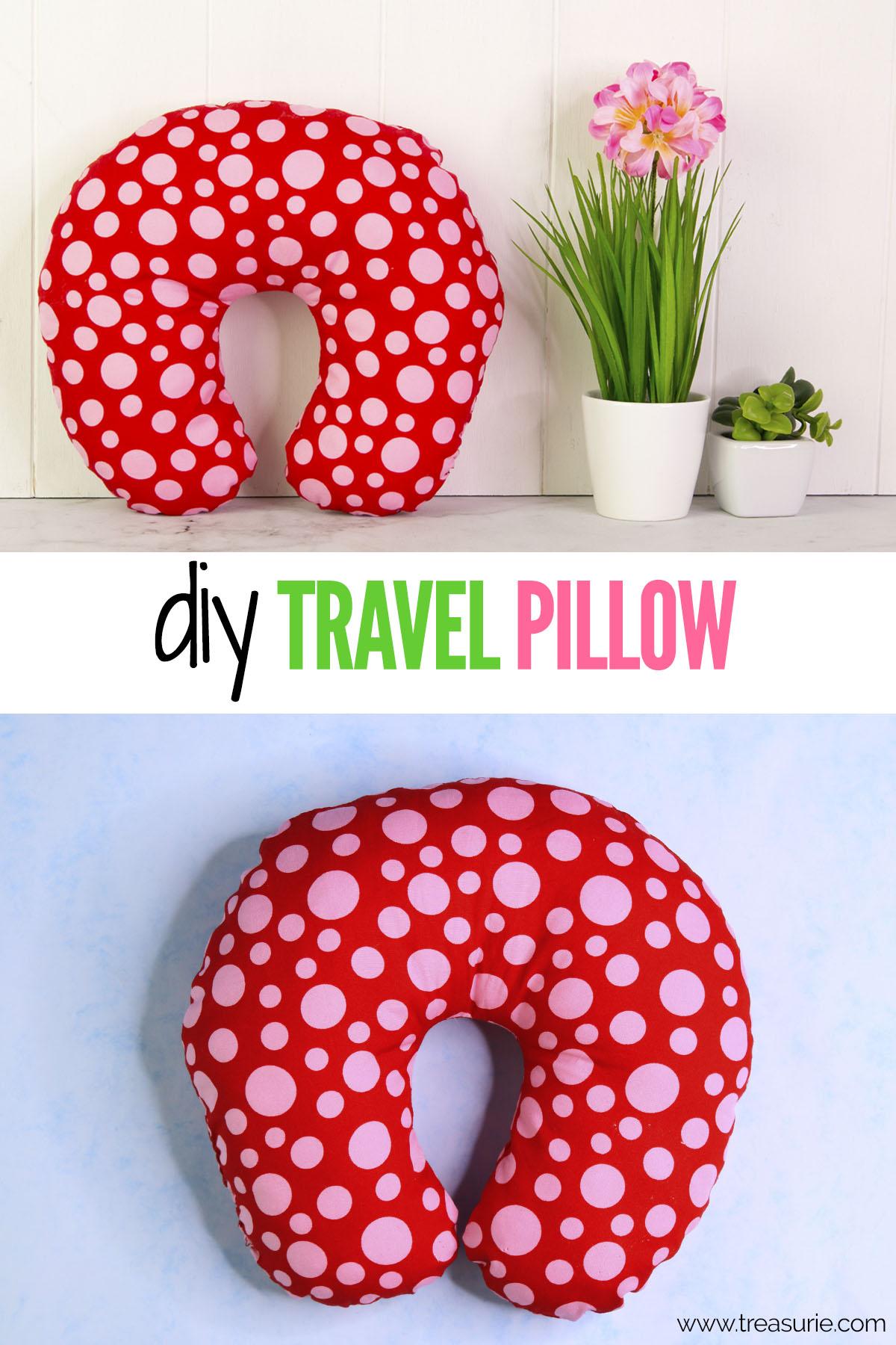 diy travel pillow diy neck pillow