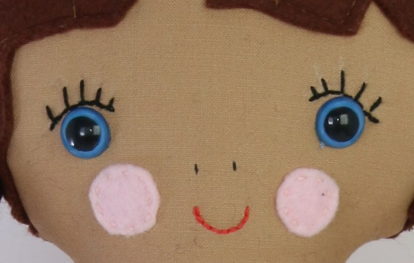 blanket stitch used for doll face