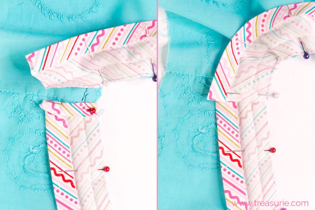 How to Sew a V Neck with Bias Tape at the End
