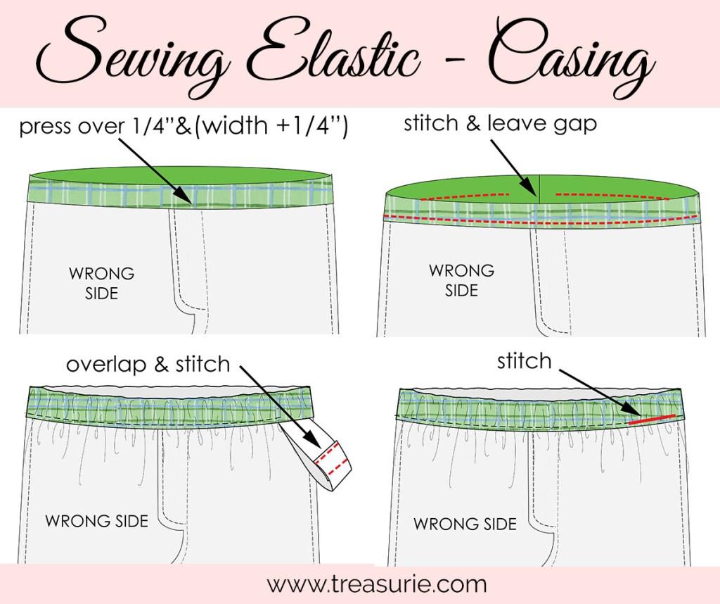 sewing elastic, elastic waistband