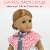 free doll cape pattern