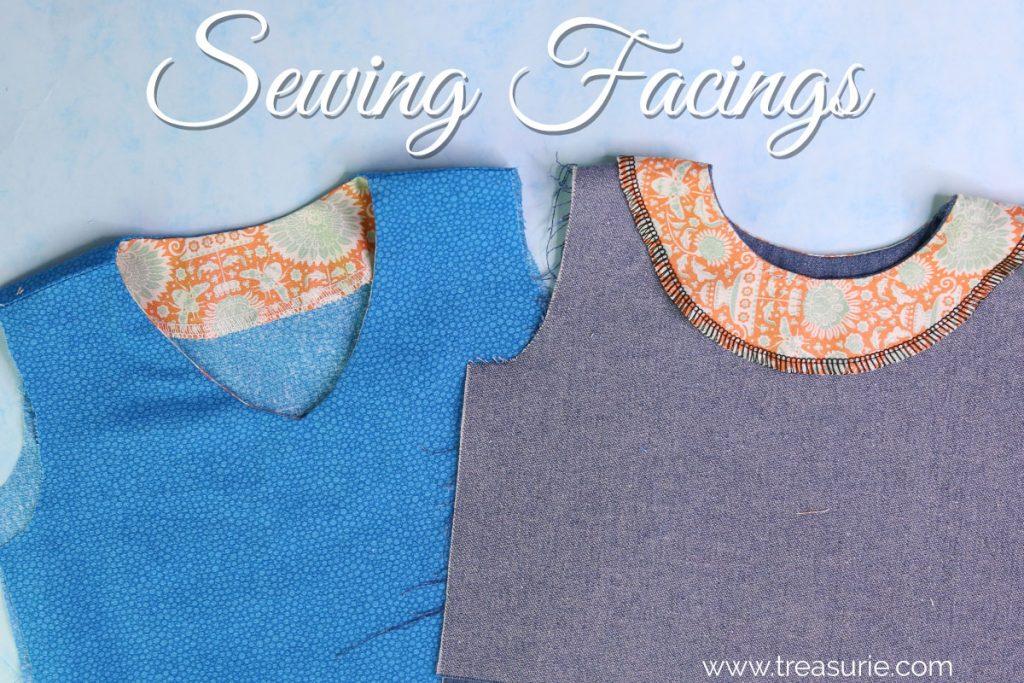 sewing facings, how to sew facings