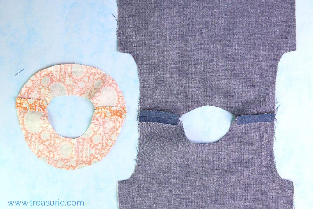 sewing facings step 2