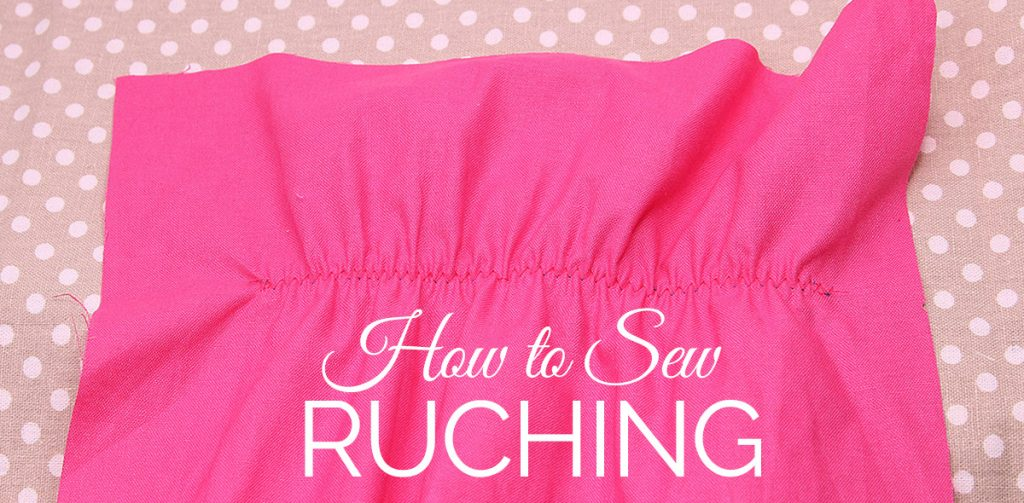 how to sew ruching, sewing ruching