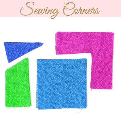 sewing corners, how to sew corners