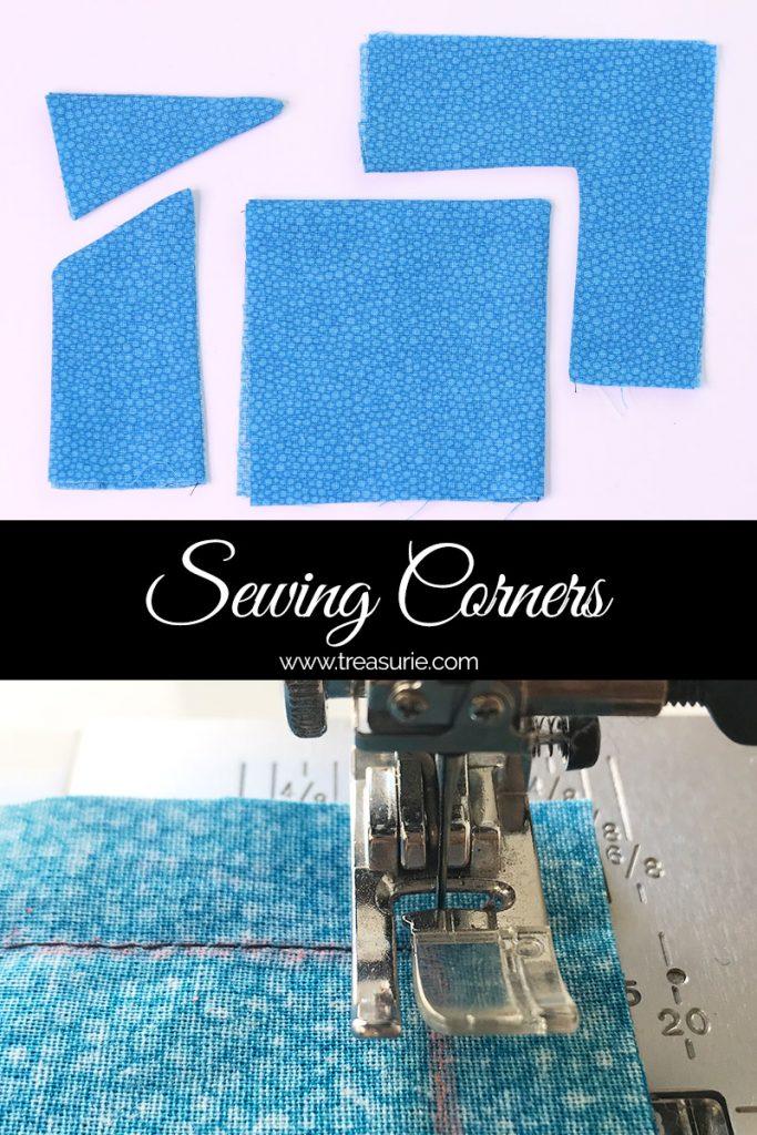 sewing corners, how to sew corners