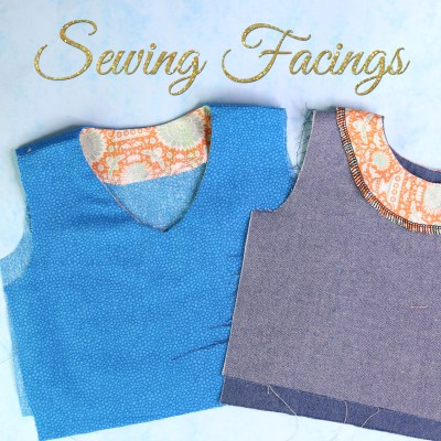 sewing facings, how to sew facings