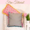 Pom Pom Pillows DIY Tutorial