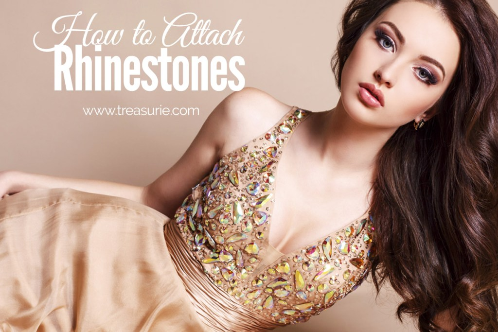 how to attach rhinestones