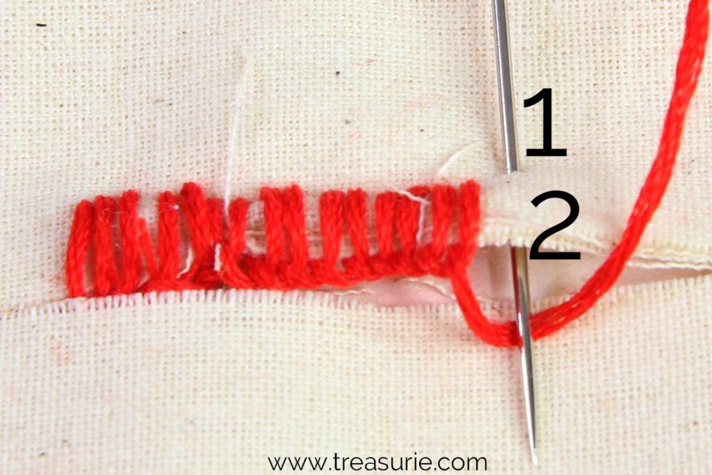 hand sewn buttonhole