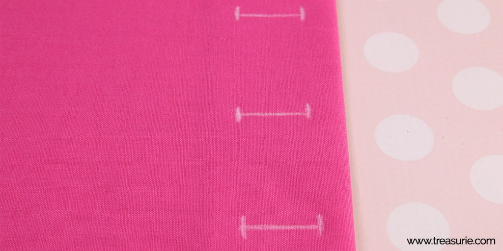 How to Sew a Buttonhole - Mark Position