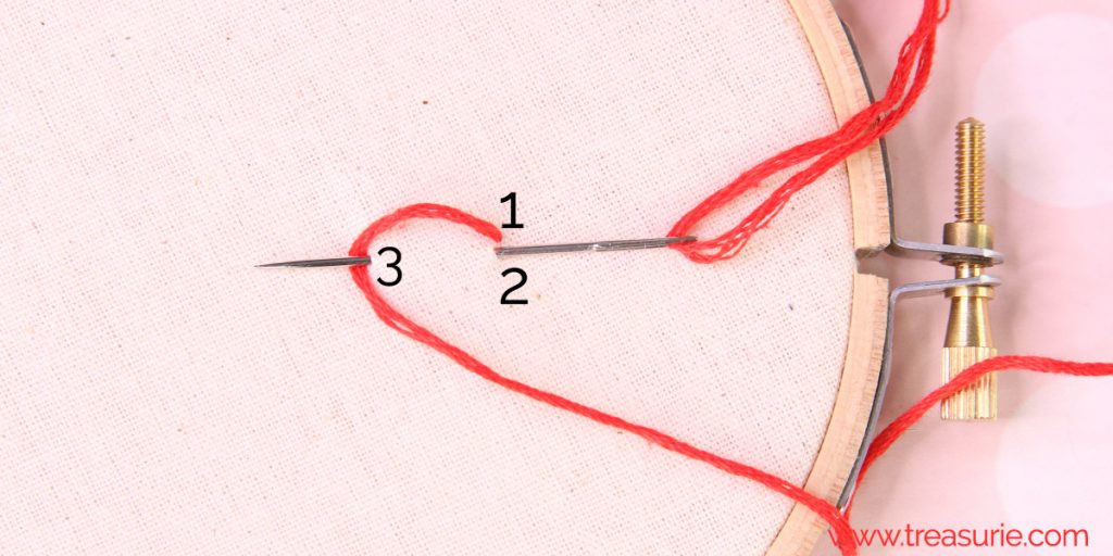 chain stitch step 2
