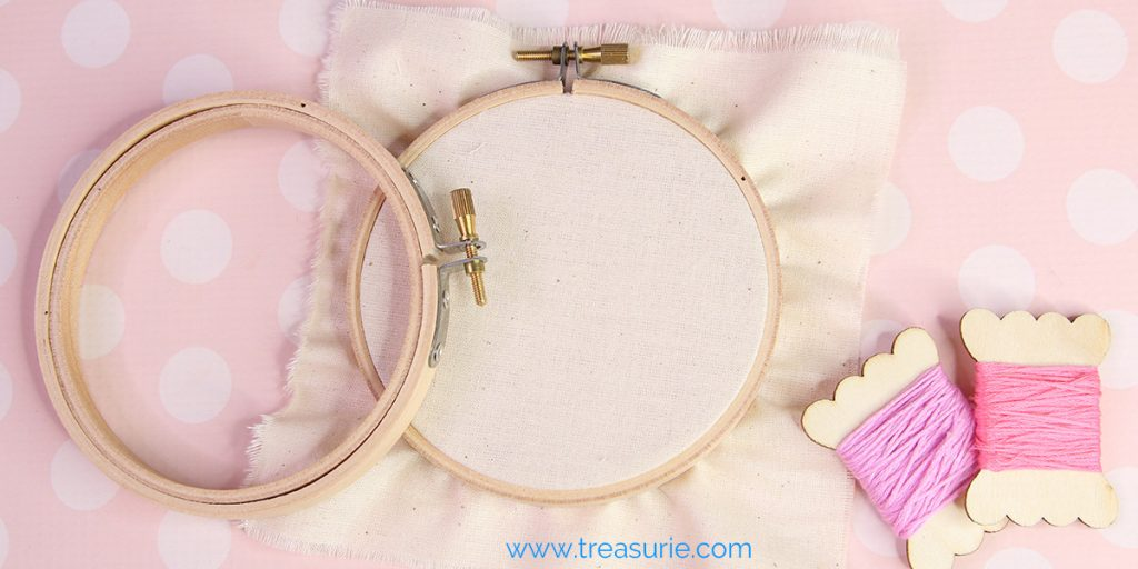 Embroidery Hoops and Floss