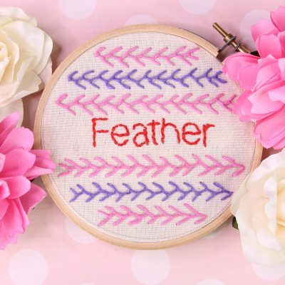 feather stitch embroidery