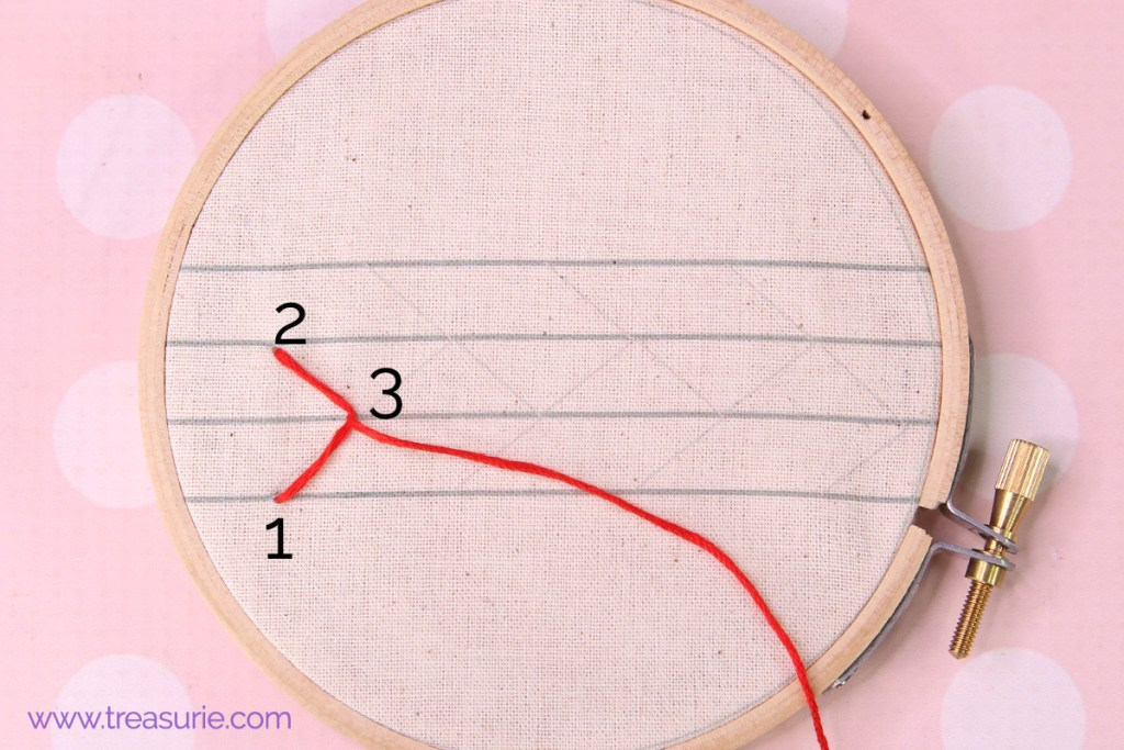 feather stitch step 2