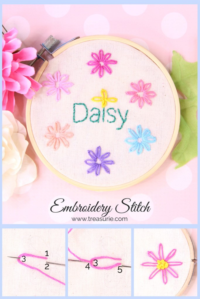 Easy tutorial for the Lazy Daisy Embroidery Stitch