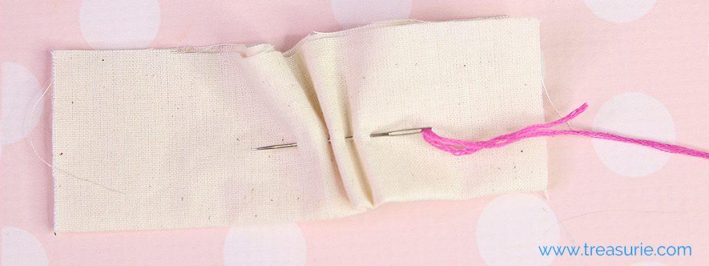 seam with running stitch