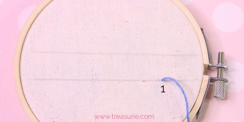 buttonhole stitch step 1