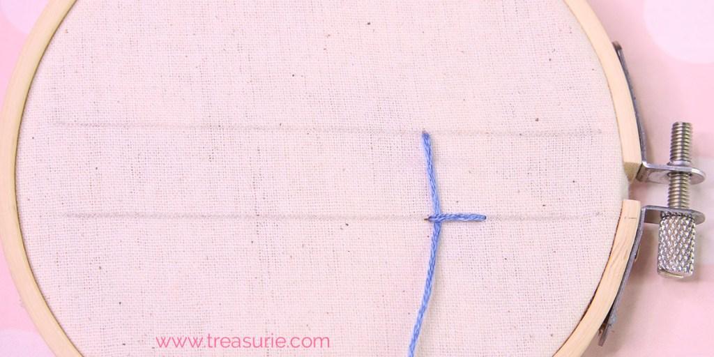 buttonhole stitch step 2