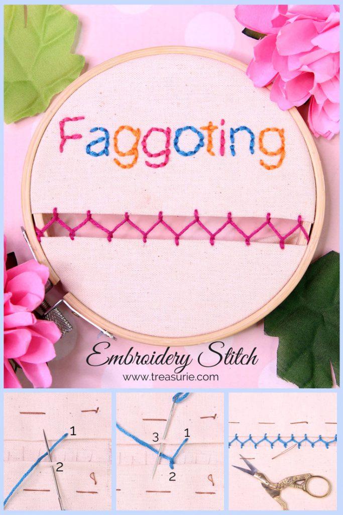 faggoting stitch, how to do faggoting