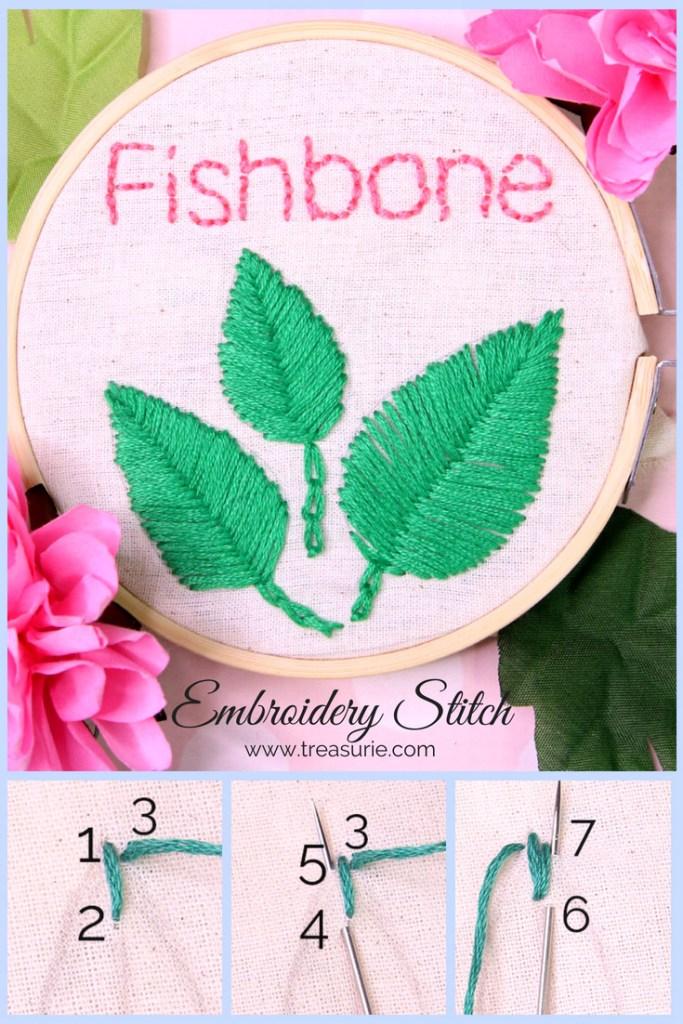 fishbone stitch embroidery