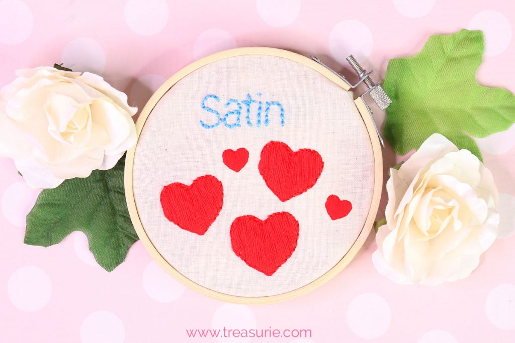 satin stitch embroidery
