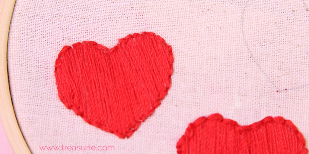 satin stitch with backstitch edge