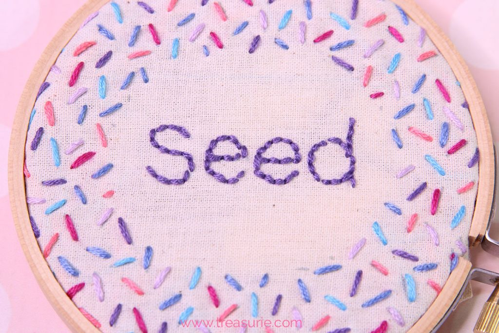 seed stitch, how to do rice stitch, Seed Stitch Embroidery