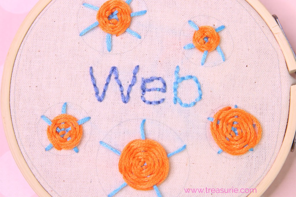 web stitch embroidery