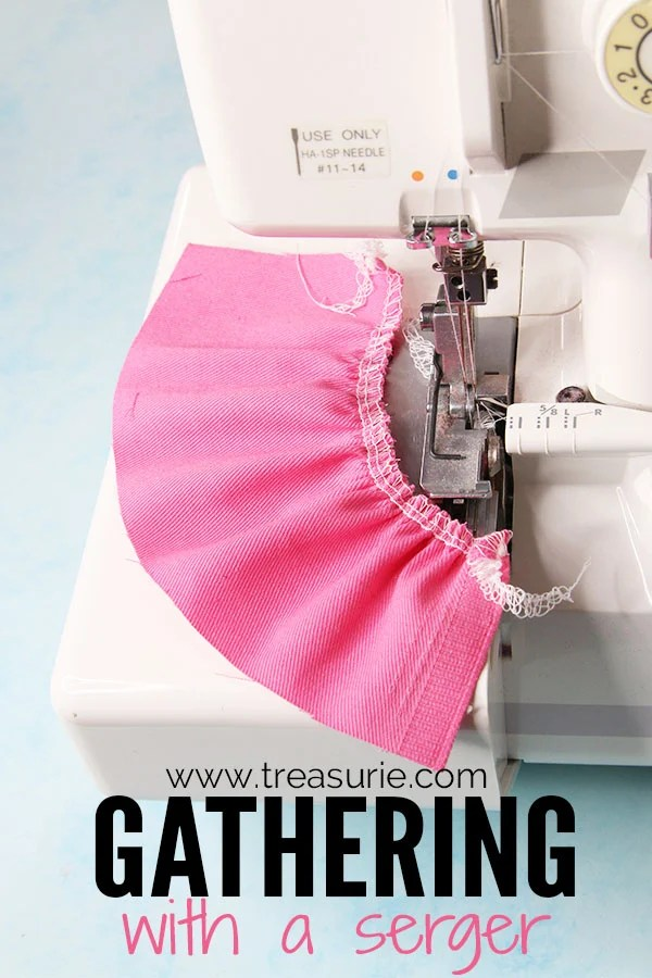 how to gather with a serger, gathering with a serger