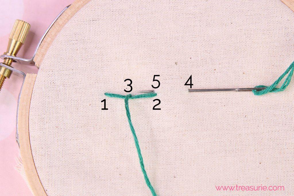 step 4 - stem stitch