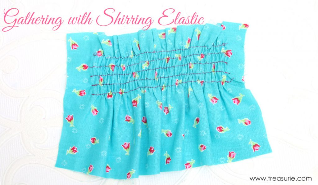 how to sew shirring