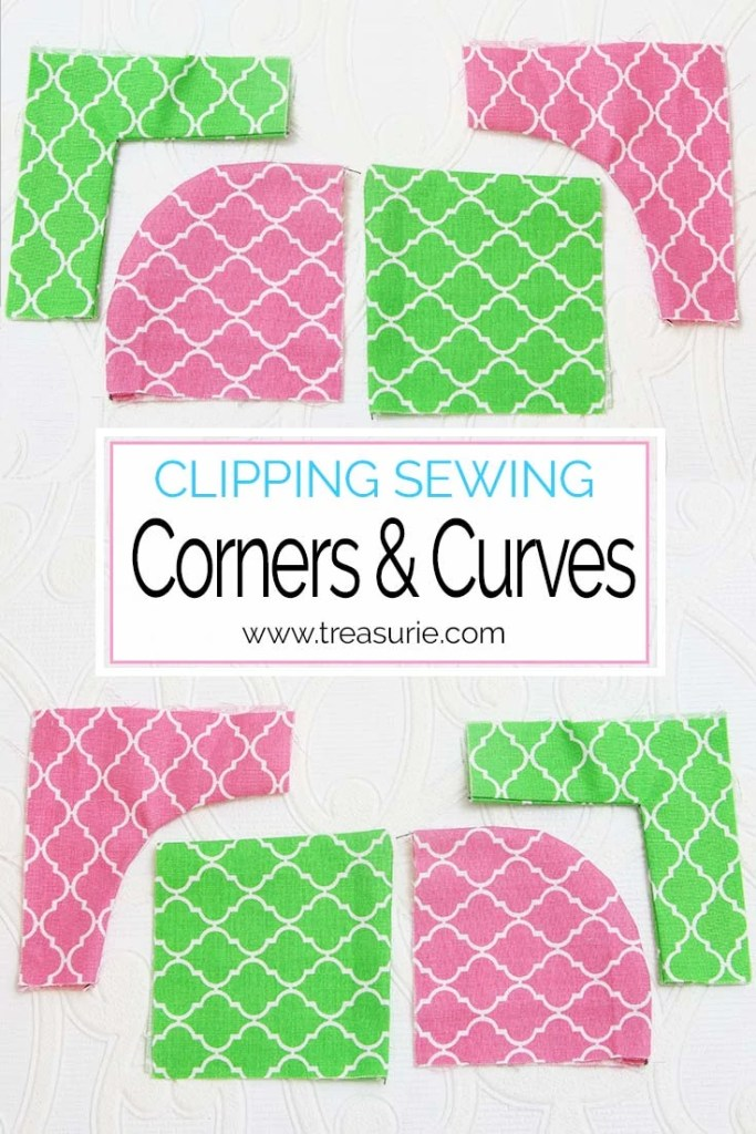 clipping sewing, how to sew corners, how to sew curves