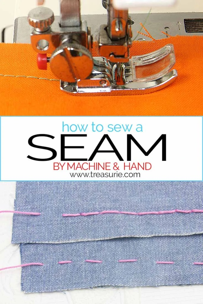 how to seam a seam, straight seams
