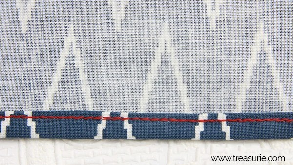 narrow hem with sewing machine step 3