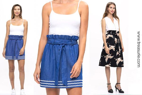 skirt with wide hem