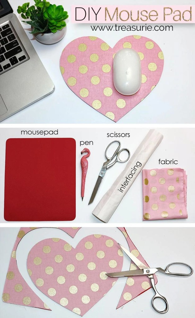 DIY Mouse Pad | Fabric Covered Mouse Pad