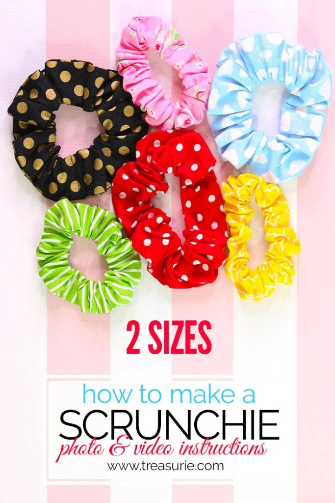 how to make a scrunchie, diy scrunchie