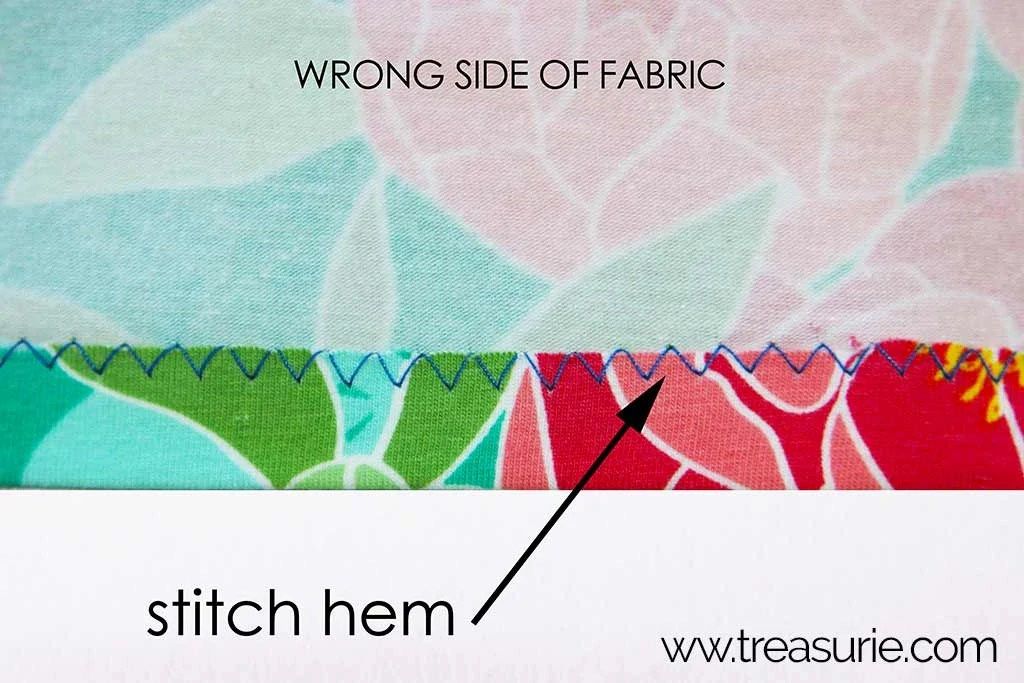 how to hem knit fabric