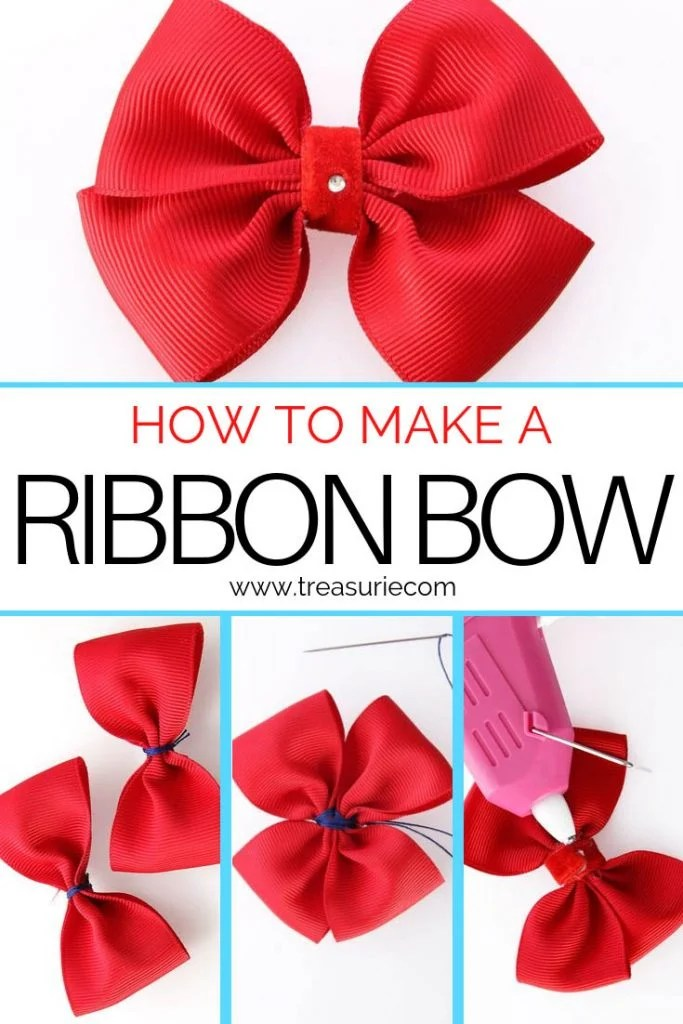 how to make a ribbon bow
